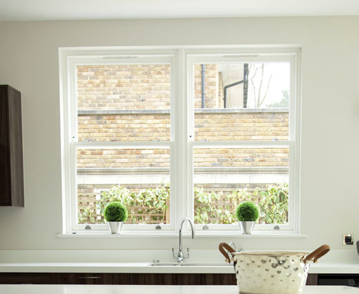 Sliding sash timber windows