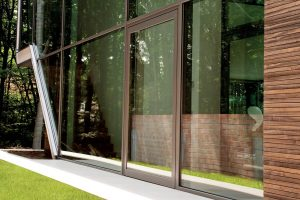 Single aluminium entrance door heavy duty