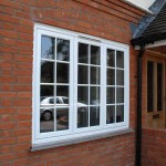 Aluminium windows with curved profile for softer edges