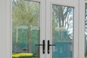 Composite french doors in white