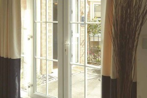 Internal view of some uPVC french doors