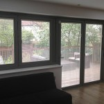 Glass blinds that sit between the glazed panels in windows and doors