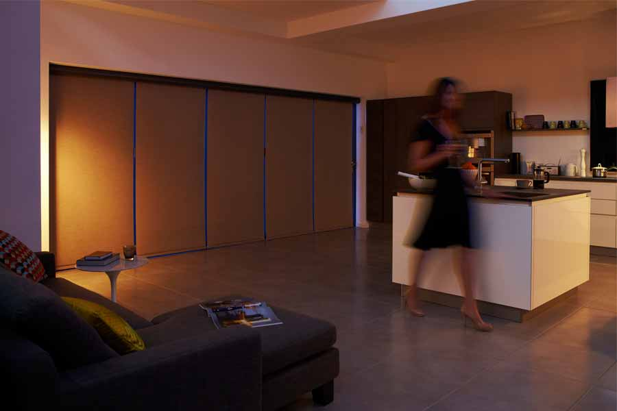 Bi-fold doors with privacy blinds