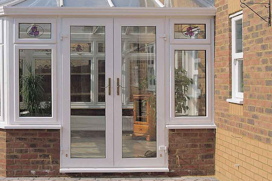 uPVC french door leading out to the garden