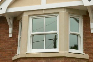 Sliding sash upvc window external