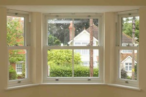 Sliding sash window - internal view
