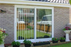 White uPVC sliding patio door