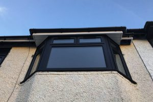 Black uPVC Casement window