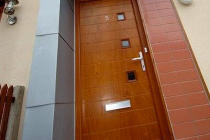 Oak effect composite doors