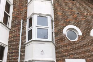 White uPVC Bow Casement window