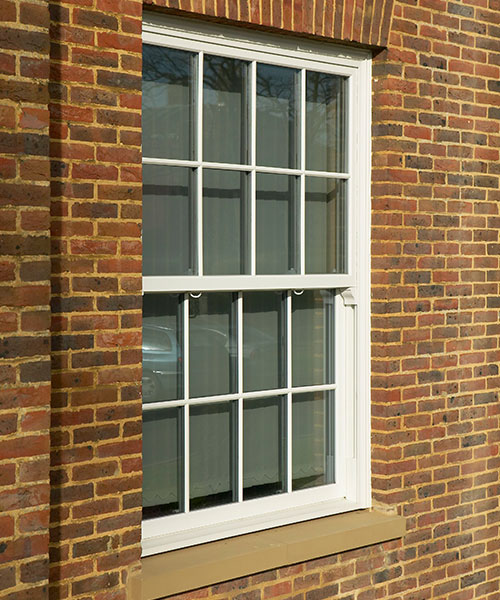 uPVC sash windows on a traditional house