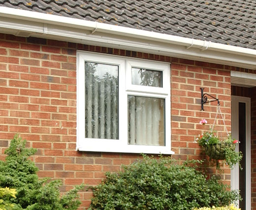 uPVC casement window in white